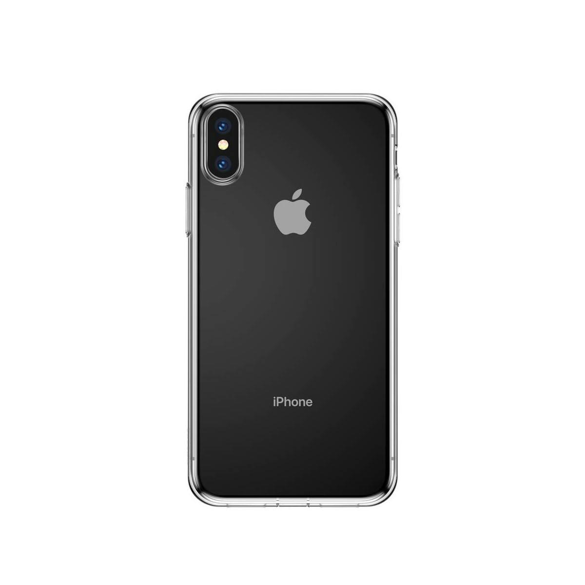 Baseus iPhone XS Max tok, Simplicity, pormentes, átlátszó (ARAPIPH65-A02)