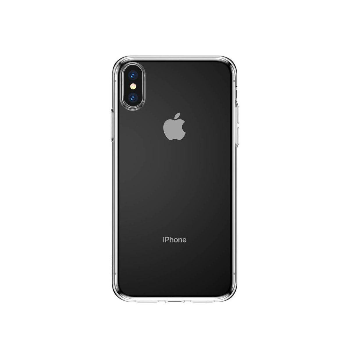Baseus iPhone XS Max tok, Simplicity series, átlátszó (ARAPIPH65-B02)