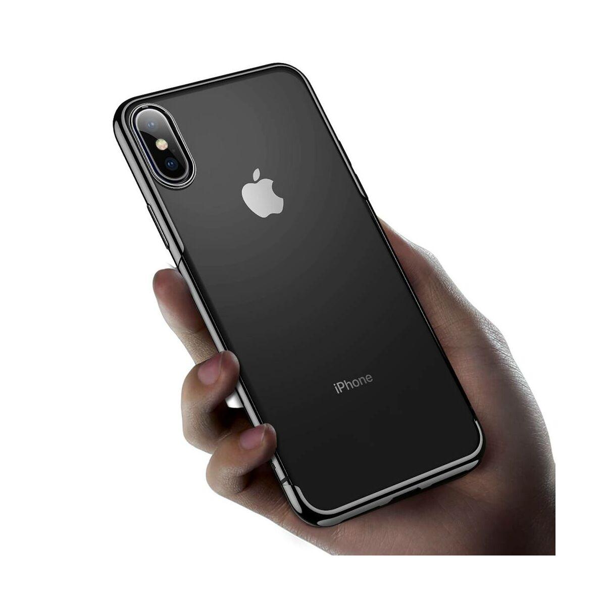 Baseus iPhone XS Max tok, Shining, fekete (ARAPIPH65-MD01)