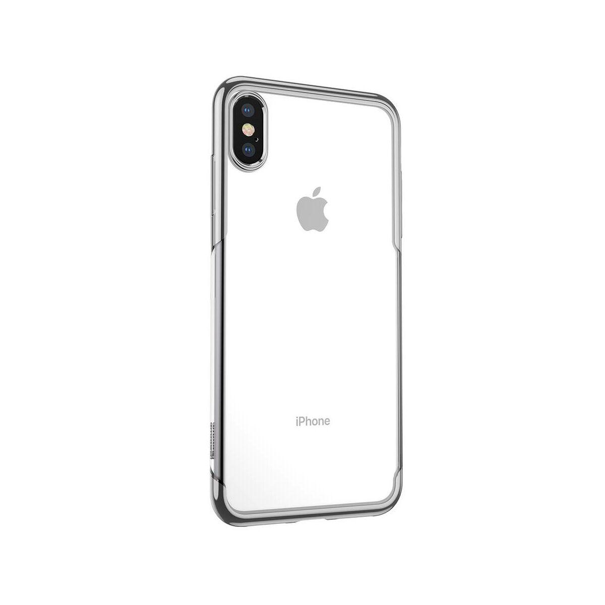 Baseus iPhone XS Max tok, Shining, ezüst (ARAPIPH65-MD0S)