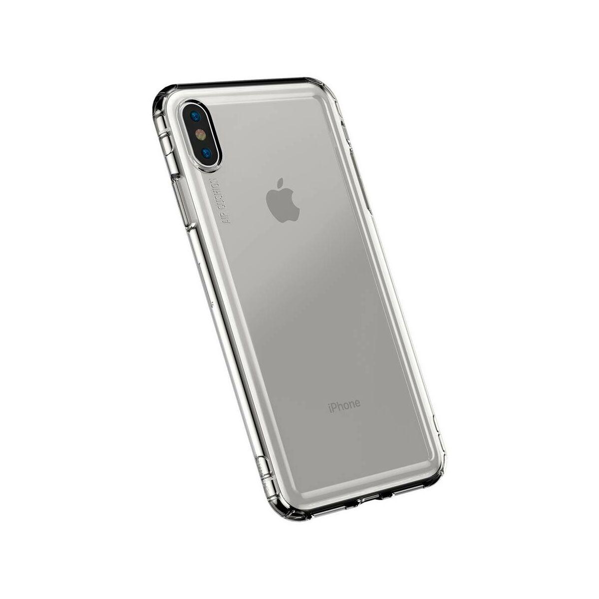 Baseus iPhone XS Max tok, Safety Airbags, átlátszó fekete (ARAPIPH65-SF01)