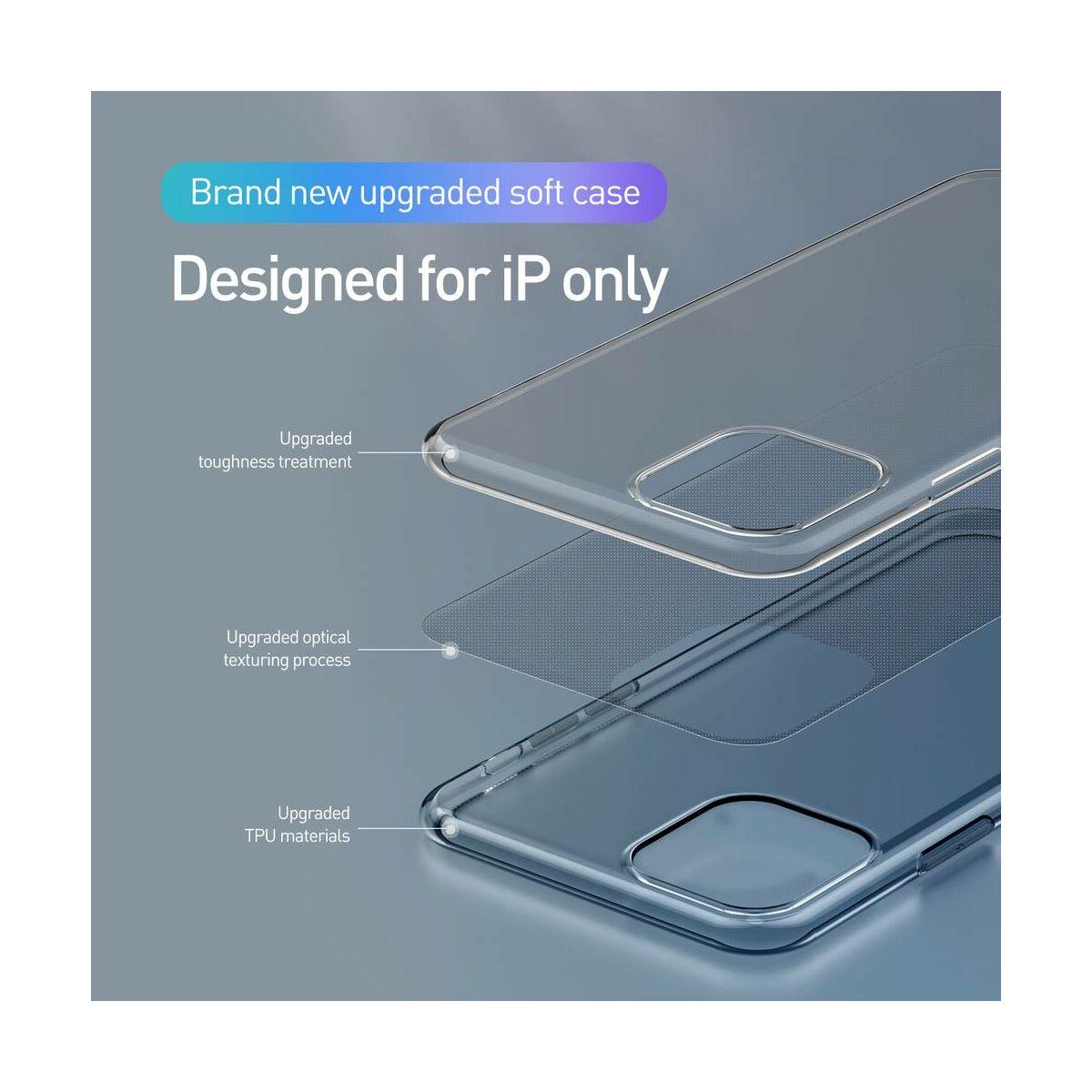Baseus iPhone 11 Pro Max tok, Simplicity Series (basic model), átlátszó fekete (ARAPIPH65S-01)