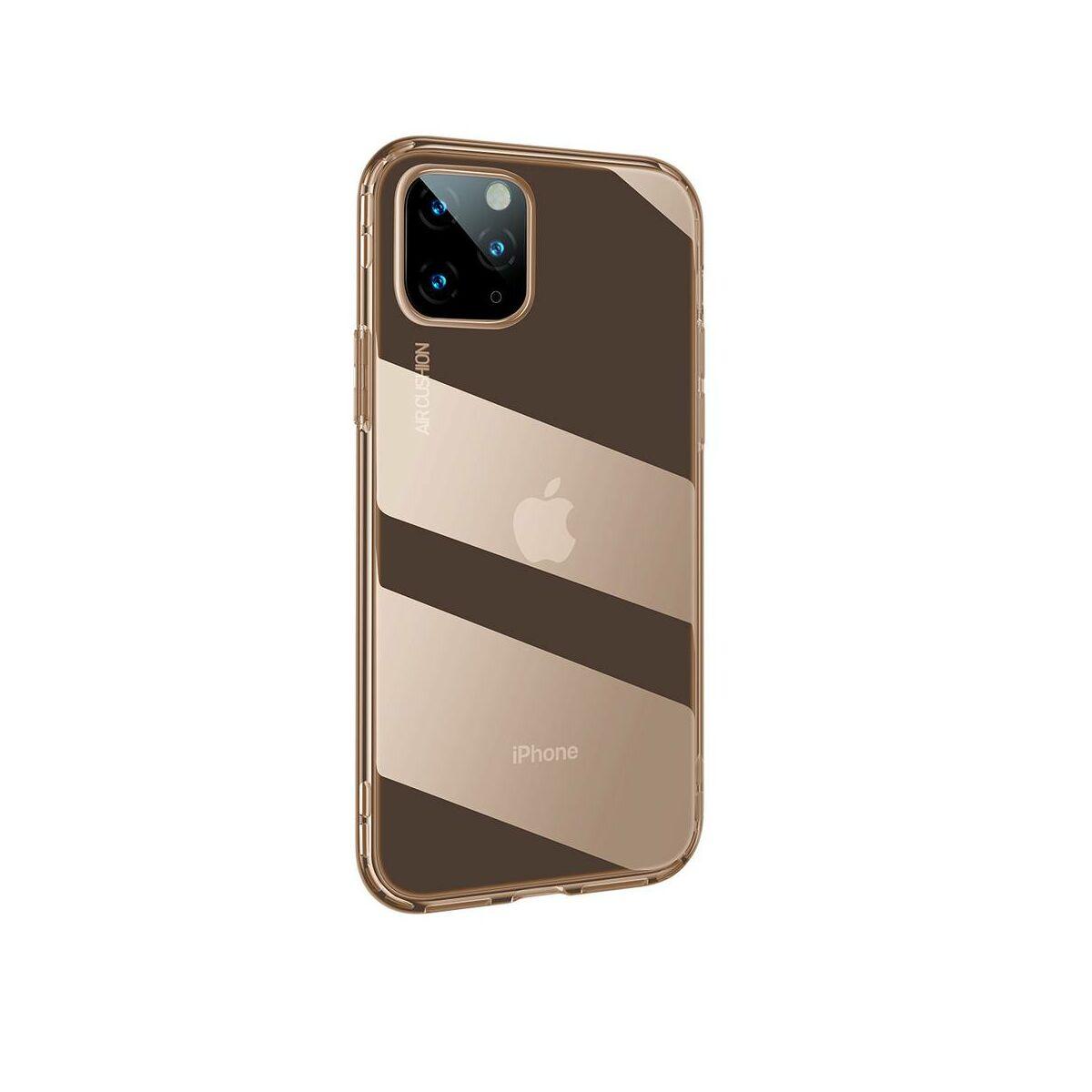 Baseus iPhone 11 Pro Max tok, Safety Airbags, átlátszó arany (ARAPIPH65S-SF0V)