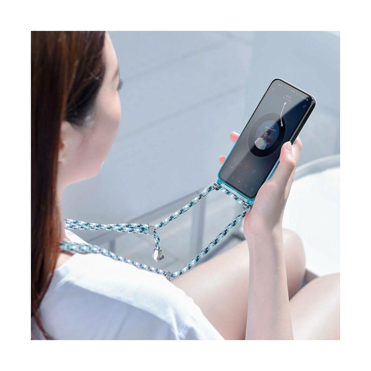 Baseus iPhone 11 Pro Max tok, Element Crossbody, csuklóra köthető textil zsineggel, kék (ARAPIPH65S-YS03)
