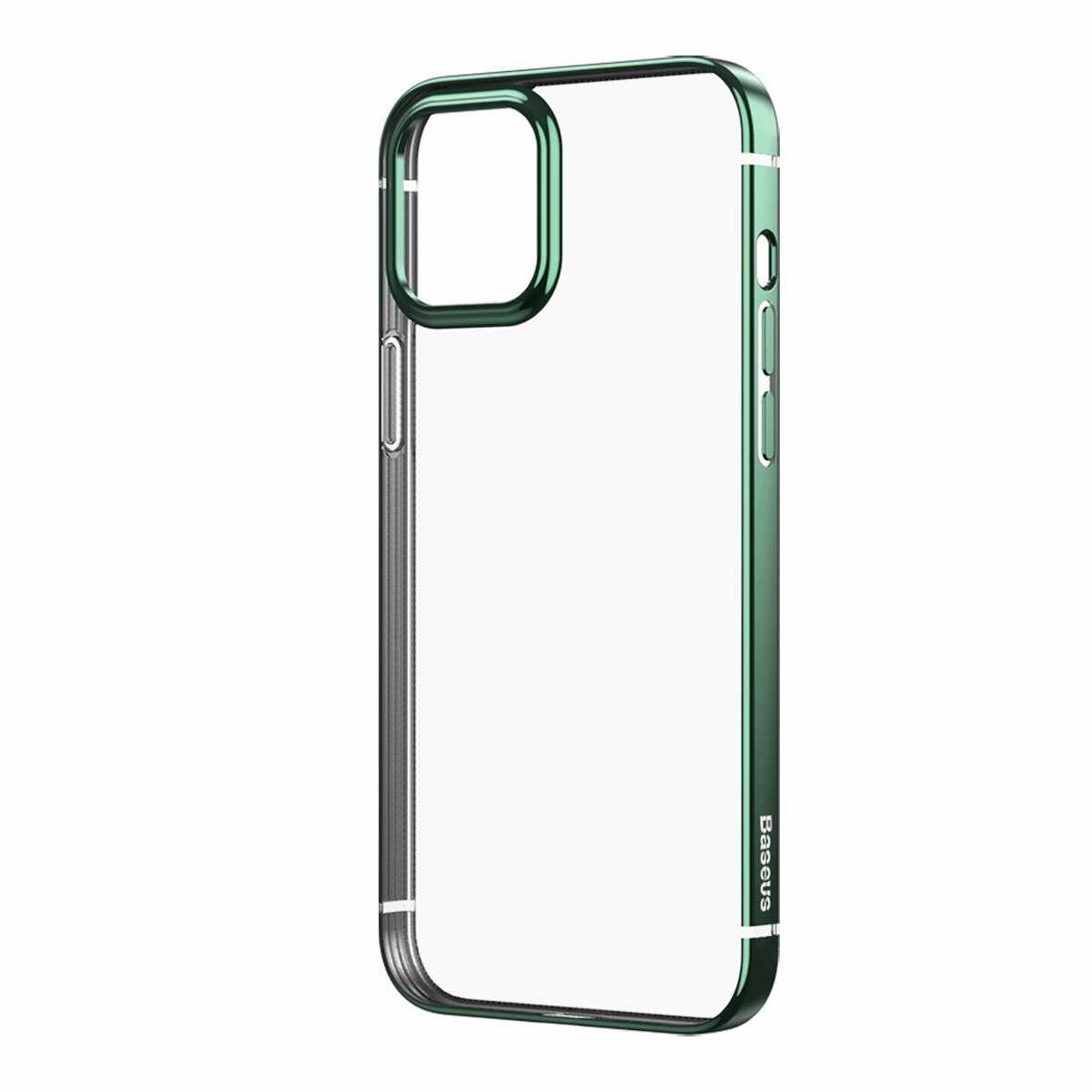 Baseus iPhone 12 Pro Max tok, Shining (esés védelemmel), zöld (ARAPIPH67N-MD06)