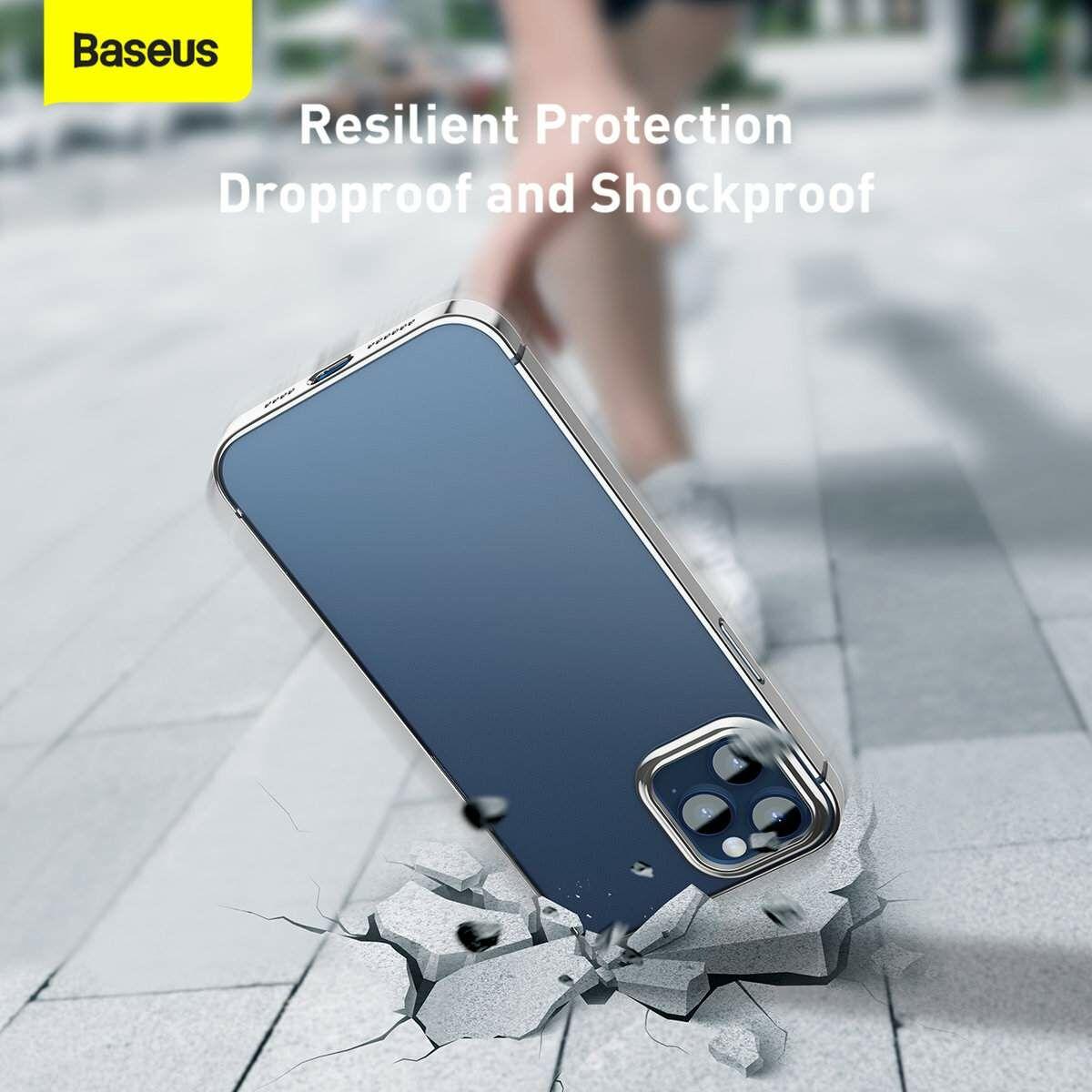 Baseus iPhone 12 Pro Max tok, Shining (esés védelemmel), ezüst (ARAPIPH67N-MD0S)
