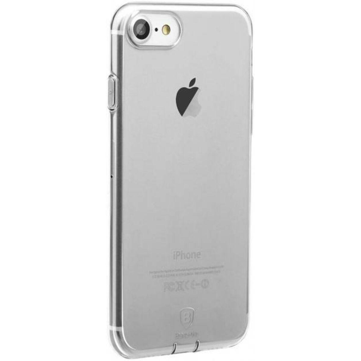 Baseus iPhone 8/7 tok, Simple series, (töltő csatlakozó nyilás lezáróval), átlátszó (ARAPIPH7-A02)