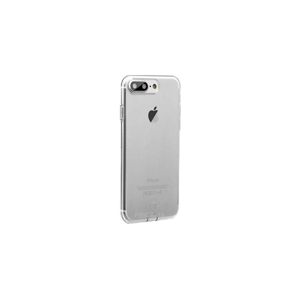 Baseus iPhone 8/7 tok, Simple series, (töltő csatlakozó nyilás lezáróval), átlátszó (ARAPIPH7P-A02)