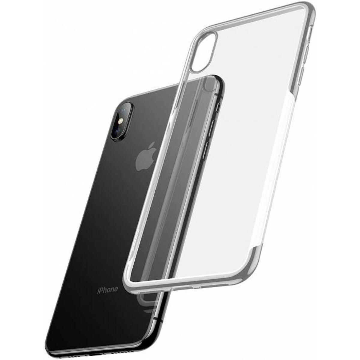 Baseus iPhone X/XS tok, Shining, ezüst (ARAPIPHX-MD0S)