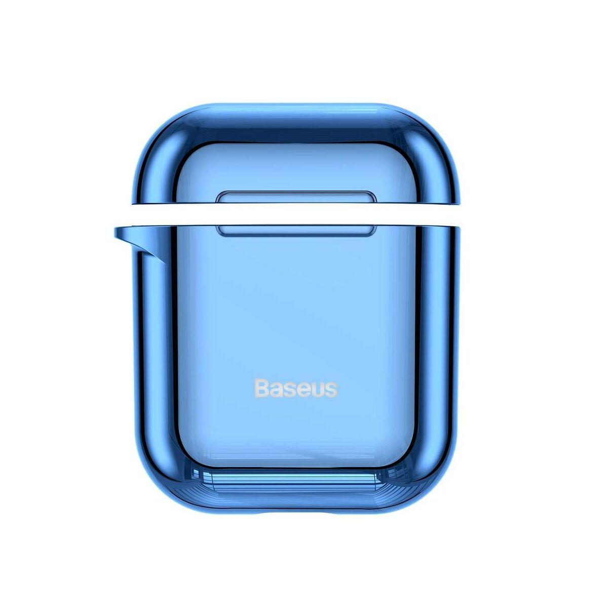 Baseus Airpods 2/1 tok, Shining hook, akasztóval, kék (ARAPPOD-A03)