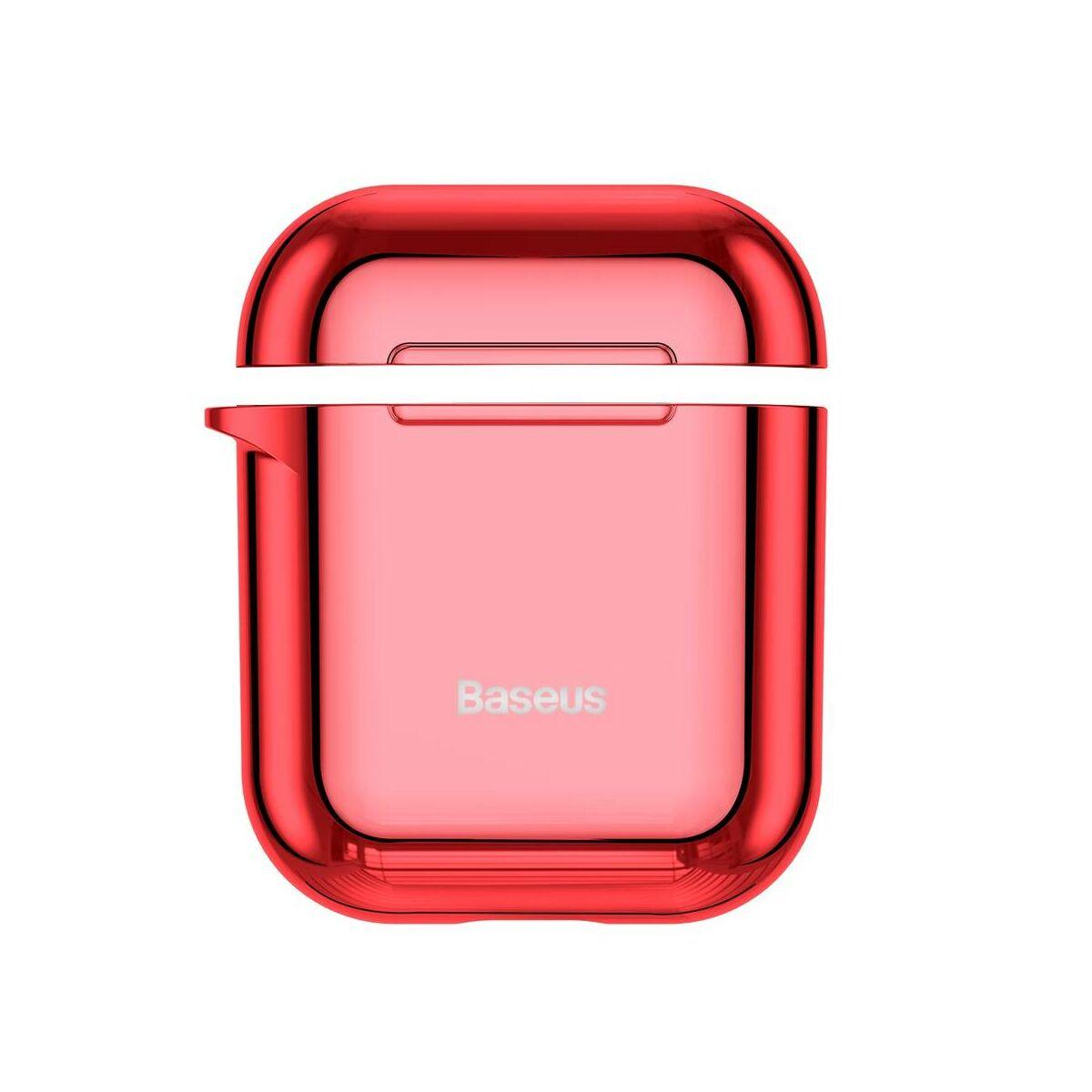 Baseus Airpods 2/1 tok, Shining hook, akasztóval, piros (ARAPPOD-A09)