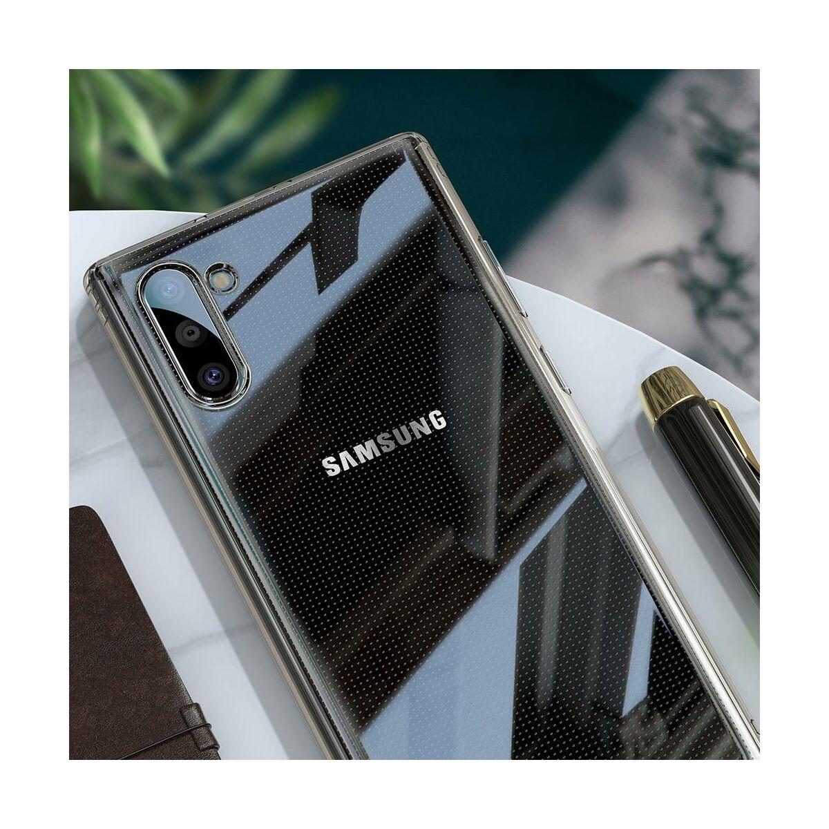 Baseus Samsung Note 10 tok, Simple Series (leesés ellen, TPU), átlátszó (ARSANOTE10-02)