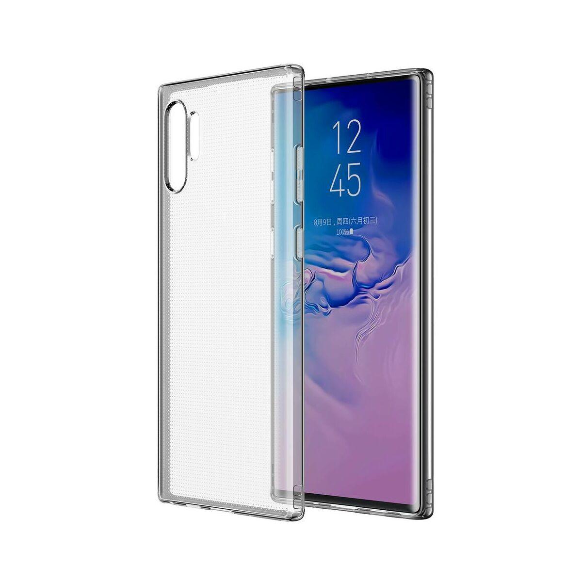 Baseus Samsung Note 10 Plus tok, Simple Series (leesés ellen, TPU), átlátszó (ARSANOTE10P-02)