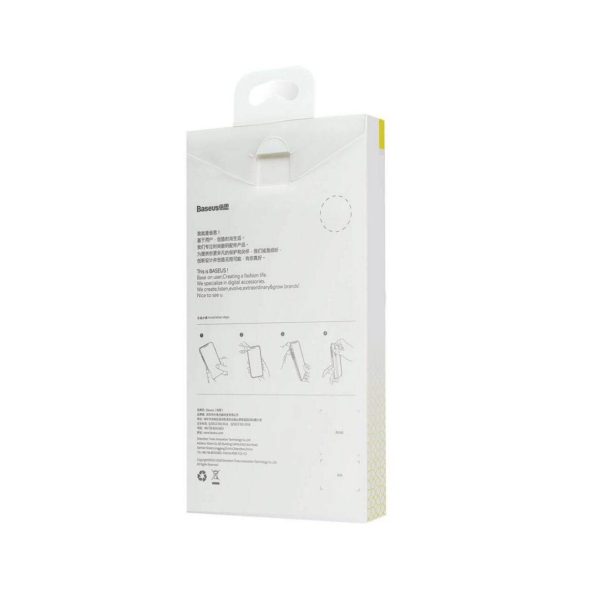 Baseus Samsung S10 tok, Simple, átlátszó (ARSAS10-02)