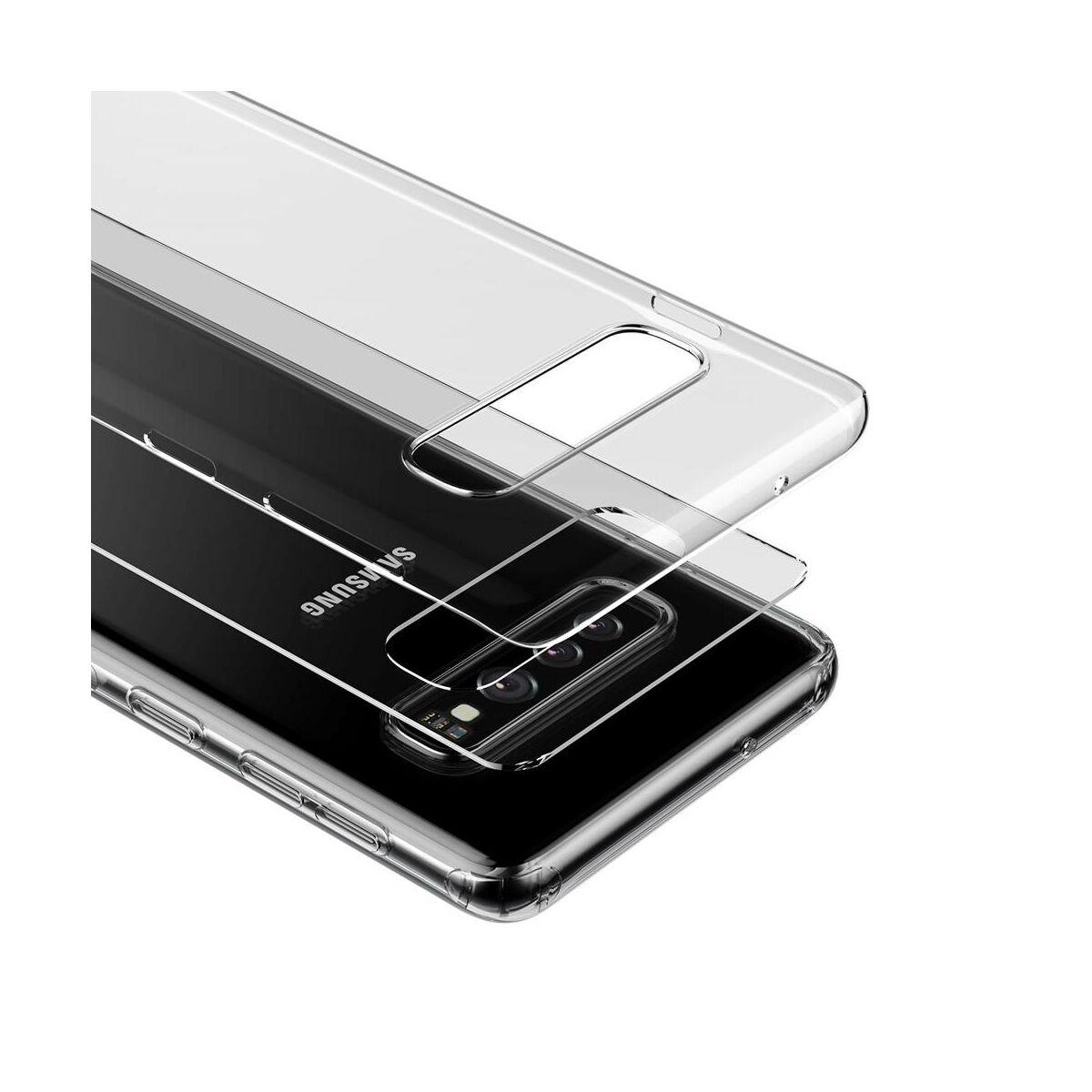 Baseus Samsung S10 Plus tok, Simple, átlátszó (ARSAS10P-02)