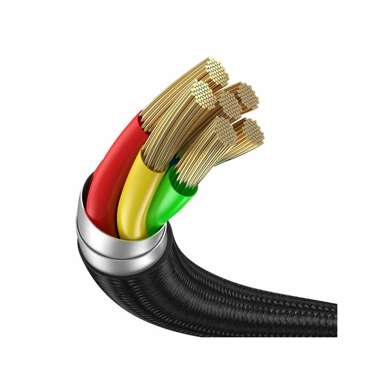 Baseus Univerzális kábel, Cafule Series 2-in-1 Type-C + okosóra töltő dokkoló, 5A, 1.5m, fekete/szürke (CA1T2-G1)