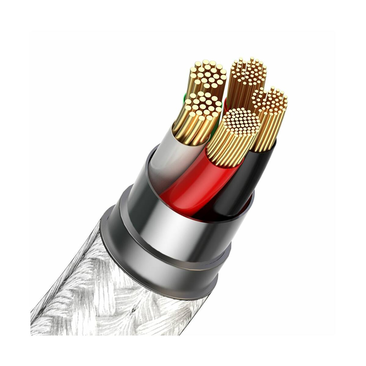 Baseus Univerzális kábel, Zinc mágneses USB véggel + töltőfej szett (Lightning/Type-C/Micro) 5A, 1m, fehér (CA1T3-B02)