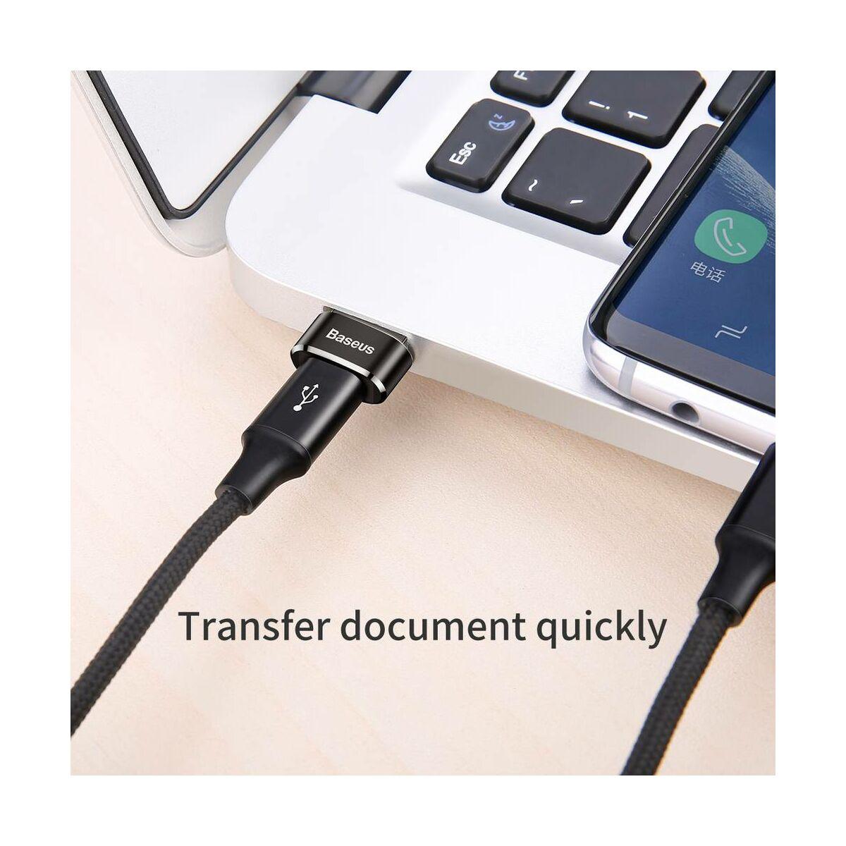 Baseus átalakító, USB[apa] - Type-C[anya], fekete (CAAOTG-01)