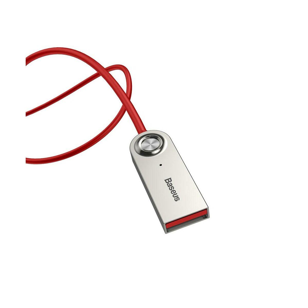 Baseus átalakító kábel, BA01 USB + vezeték nélküli adapterről 3.5mm Jack bemenetre, piros (CABA01-09)