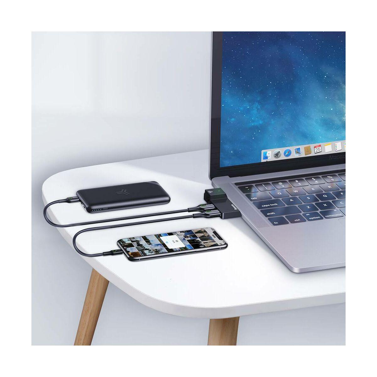Baseus HUB, Multifunctional Surface Pro eszközhöz, (USB A to RJ45x1 + USB3.0x2), fekete (CAHUB-FP01)