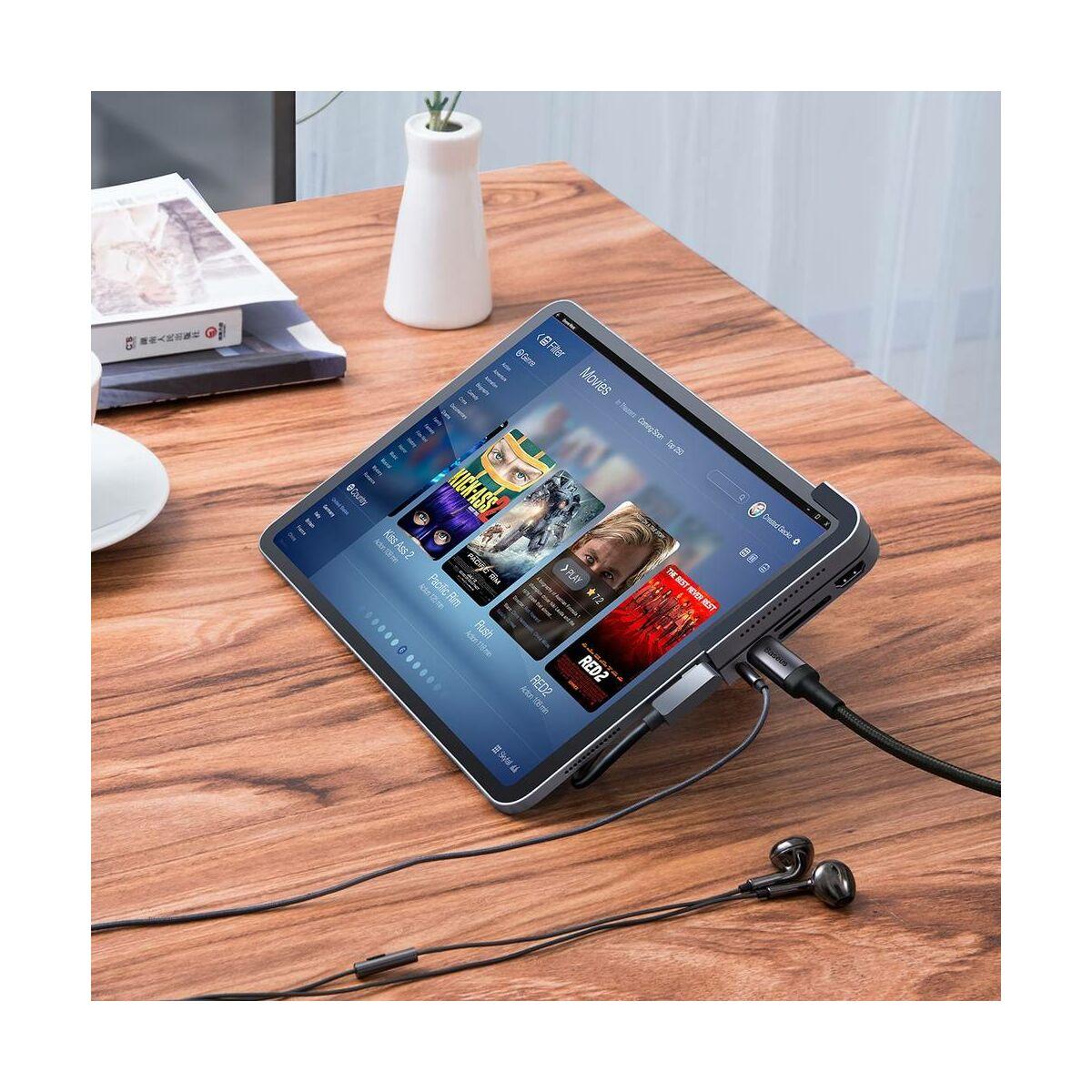 Baseus HUB, Bend Angle No.7 Multifunctional Type-C kimenetes iPad/Tablet eszközökhöz, szürke (CAHUB-WJ0G)