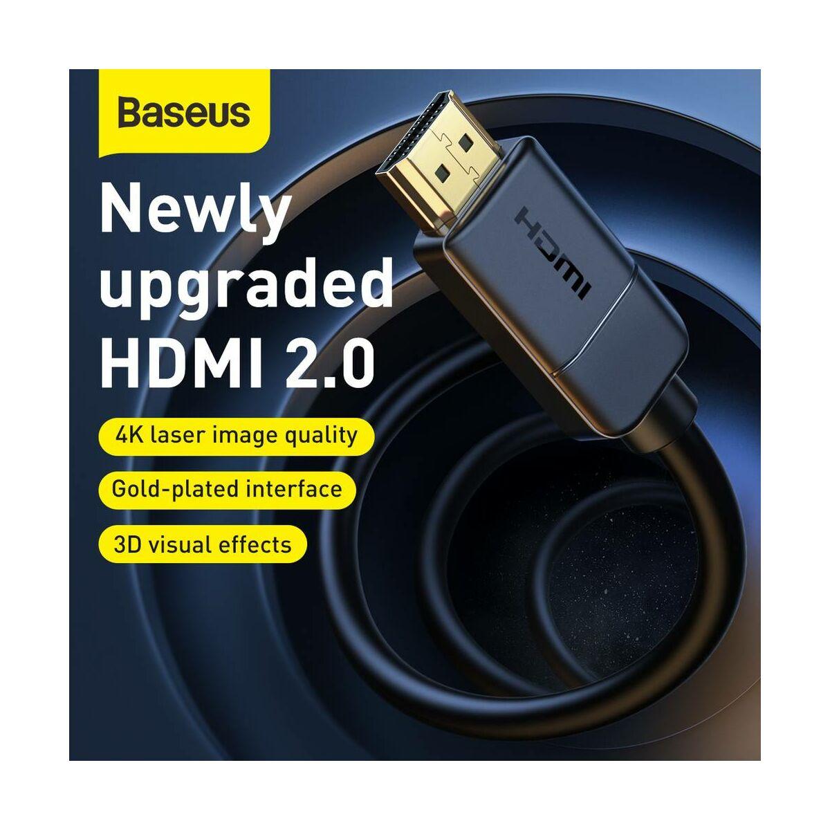 Baseus Videó kábel, High definition sorozat HDMI - 4K HDMI 10m, fekete (CAKGQ-F01)
