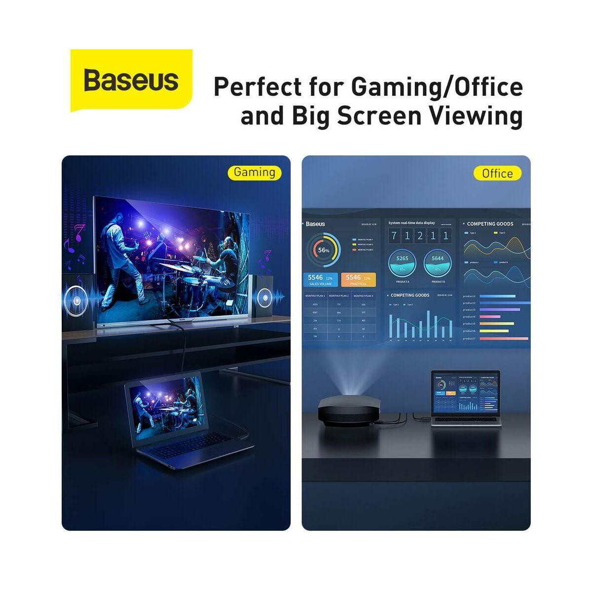 Baseus Videó kábel, High definition sorozat HDMI - 4K HDMI 12m, fekete (CAKGQ-G01)