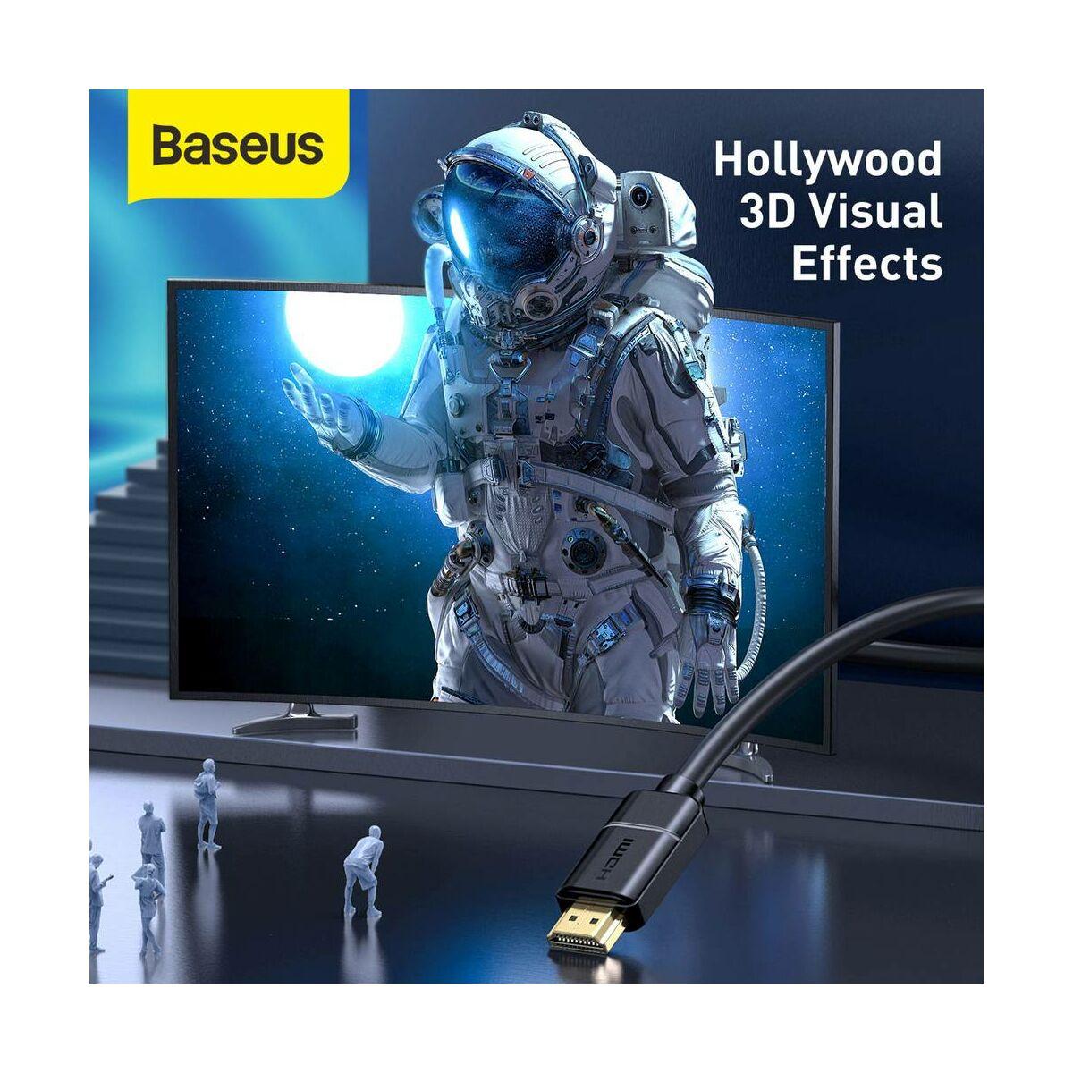 Baseus Videó kábel, High definition sorozat HDMI - 4K HDMI 15m, fekete (CAKGQ-H01)