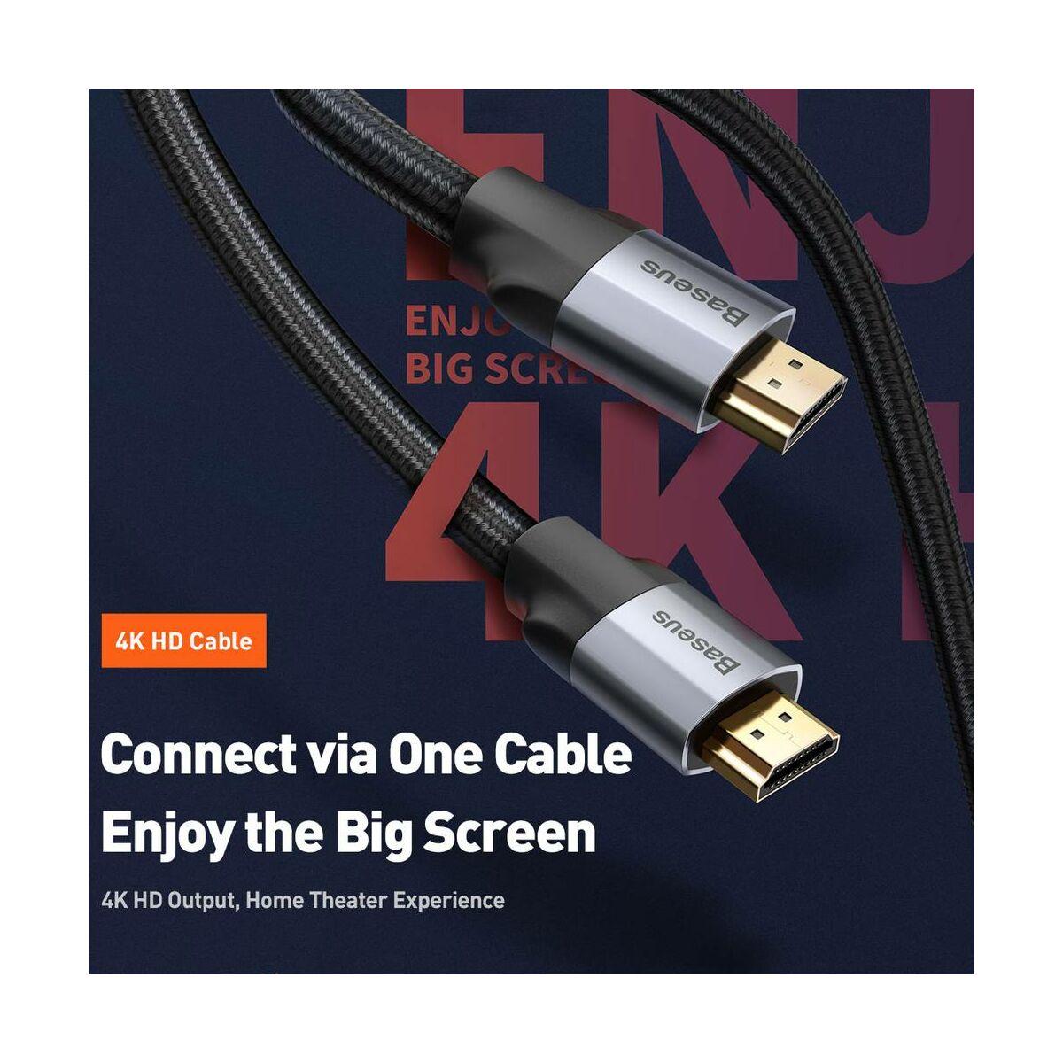 Baseus Video kábel Enjoyment Series 4KHD [apa] - 4KHD [apa] 2m, szürke (CAKSX-C0G)