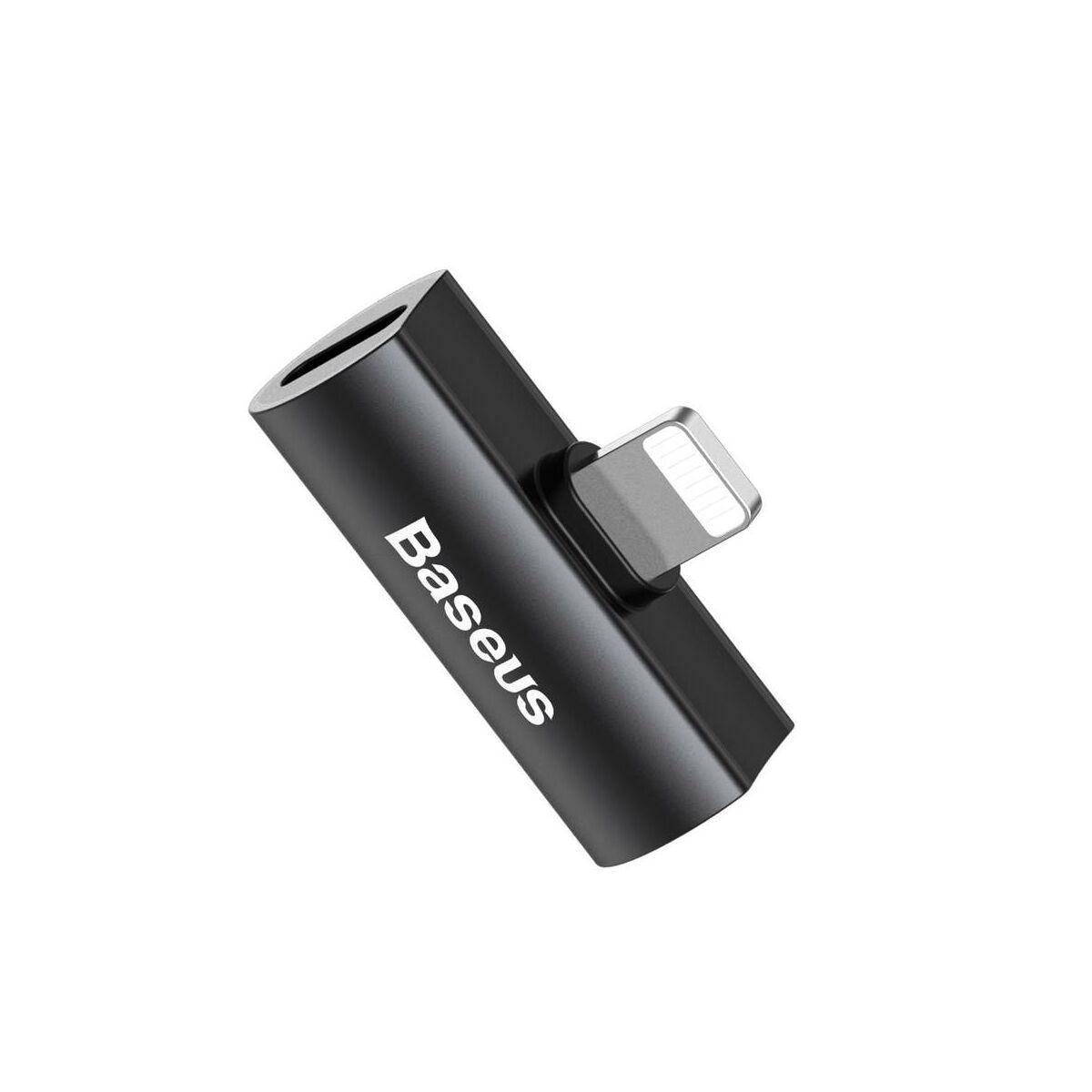 Baseus átalakító, L46 Lightning [apa] - Dual Lightning [anya] adapter, fekete (CAL46-01)