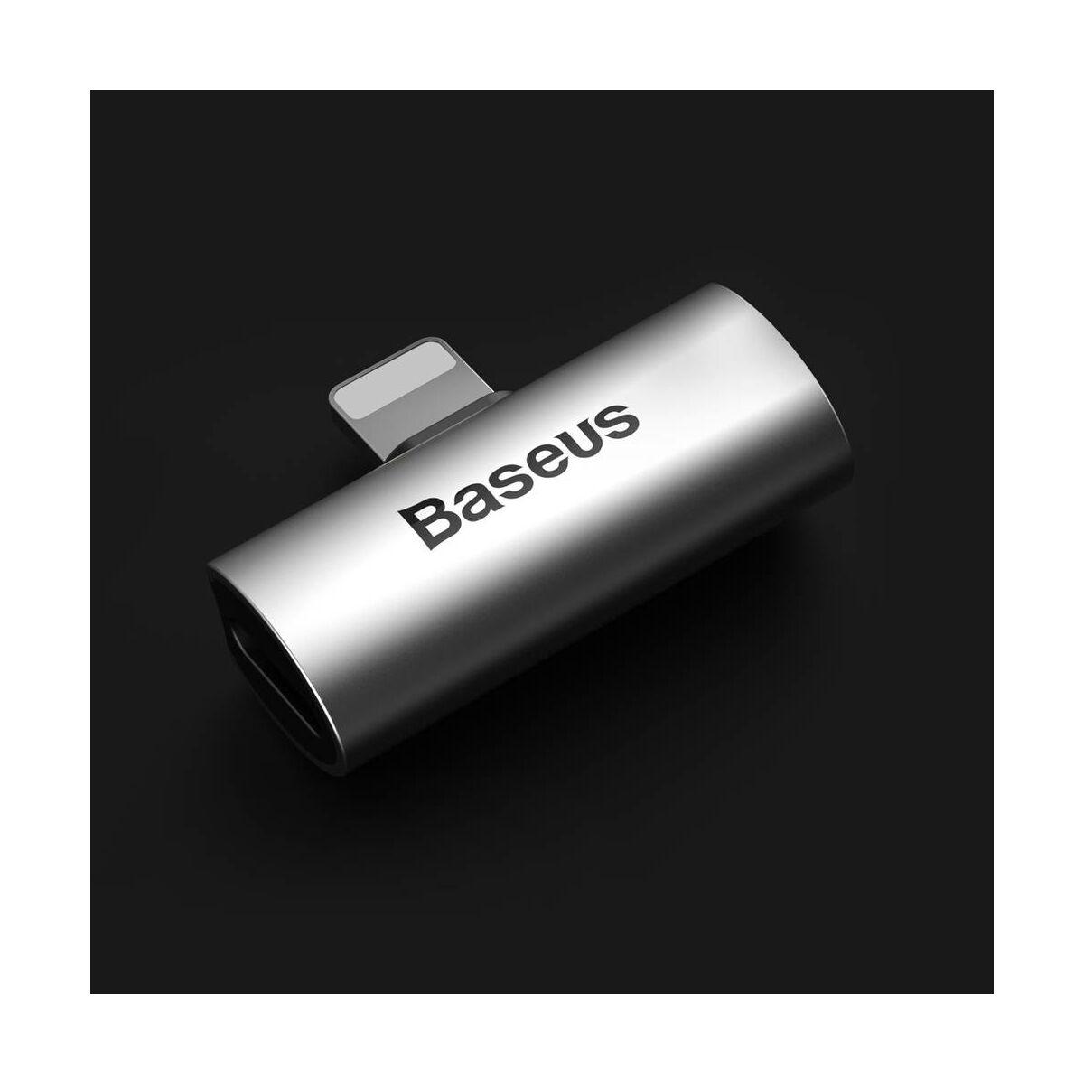 Baseus átalakító, L46 Lightning [apa] - Dual Lightning [anya] adapter, ezüst/fekete (CAL46-S1)