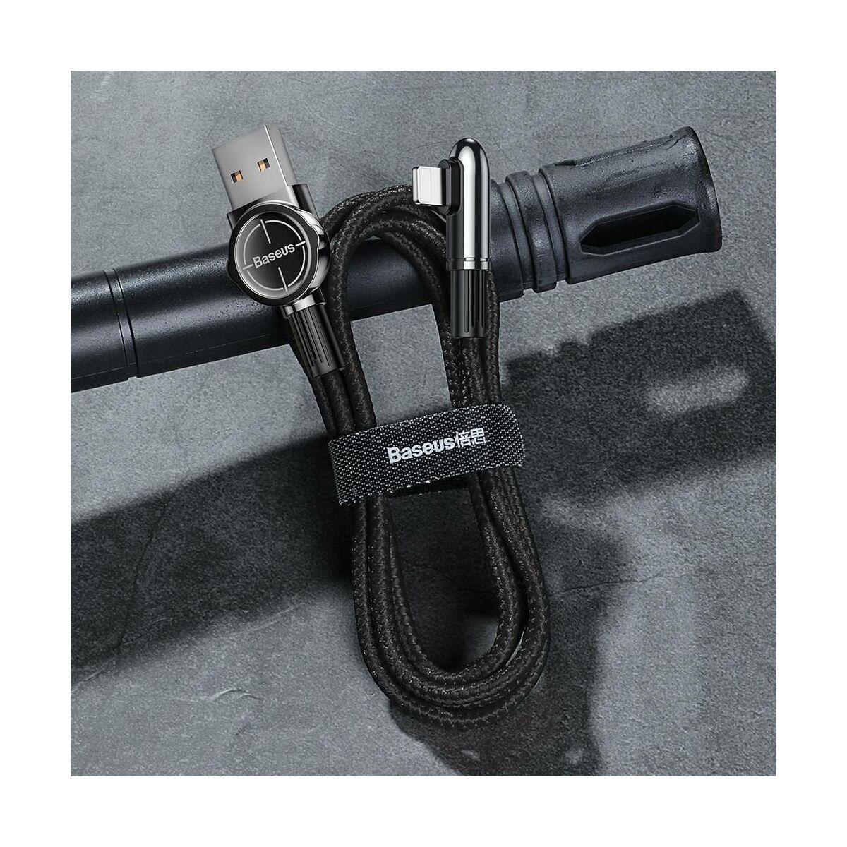 Baseus Lightning kábel, Exciting Mobile Game, lekerekített L-alakú csatlakozó, 1.5A, 2m, fekete (CALCJ-B01)