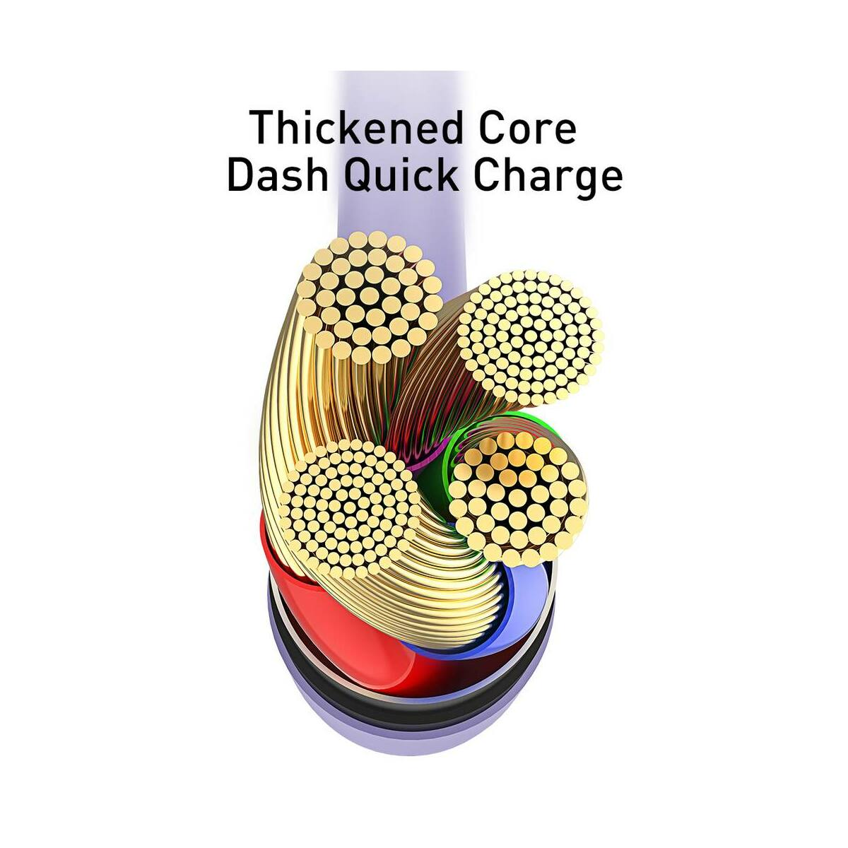 Baseus Lightning kábel, Colourful 2.4A, 1.2m, citrom (CALDC-0Y)