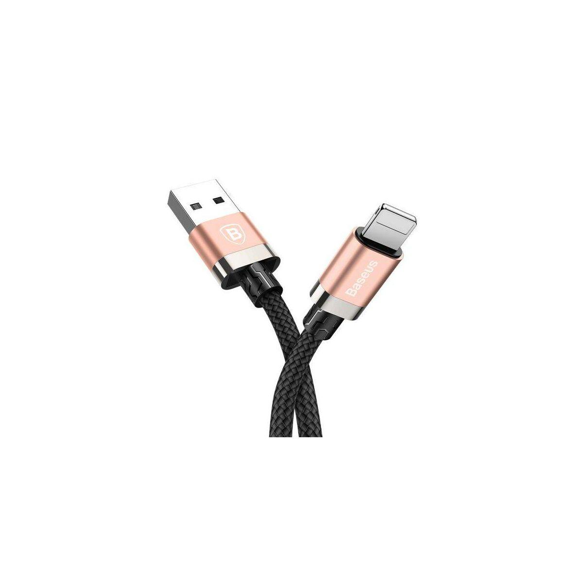 Baseus Lightning kábel, Golden Belt Series prémium 3A, 2m, rosé arany (CALGB-A17)