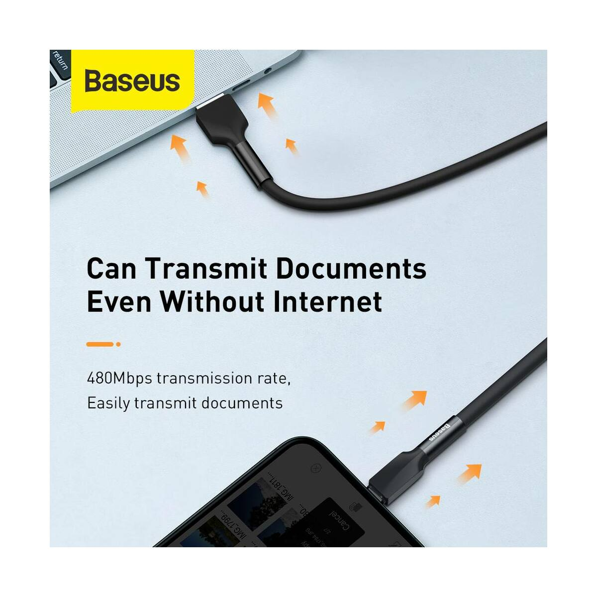 Baseus Lightning Szilikon kábel 2.4A, 1m, zöld (CALGJ-06)