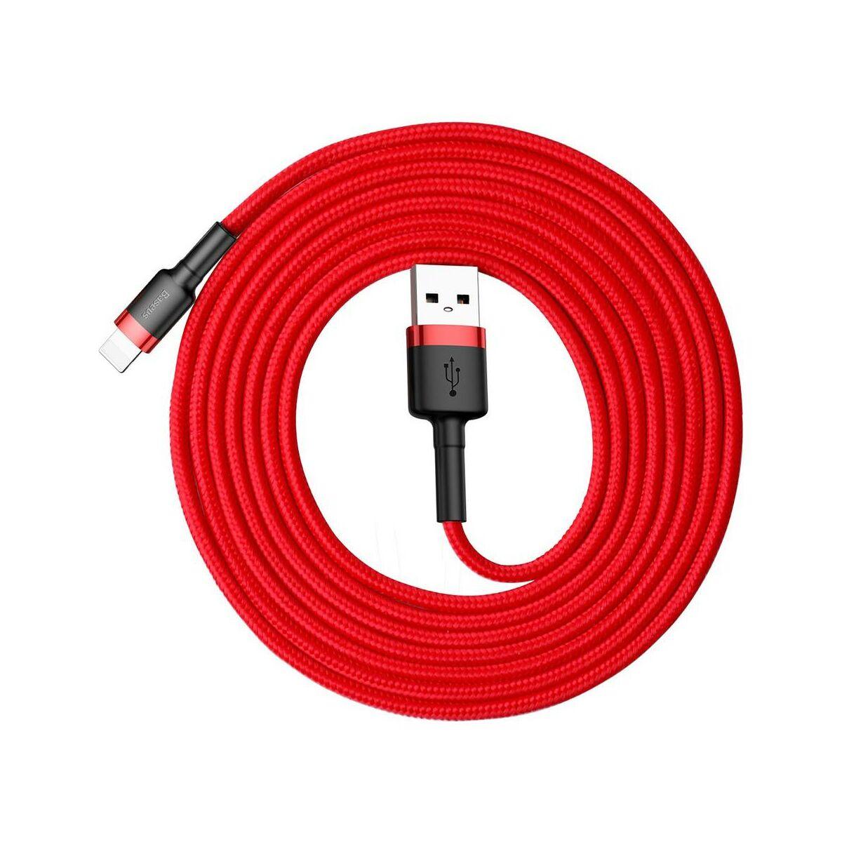 Baseus Lightning kábel, Cafule 1.5A, 2m, piros/piros (CALKLF-C09)