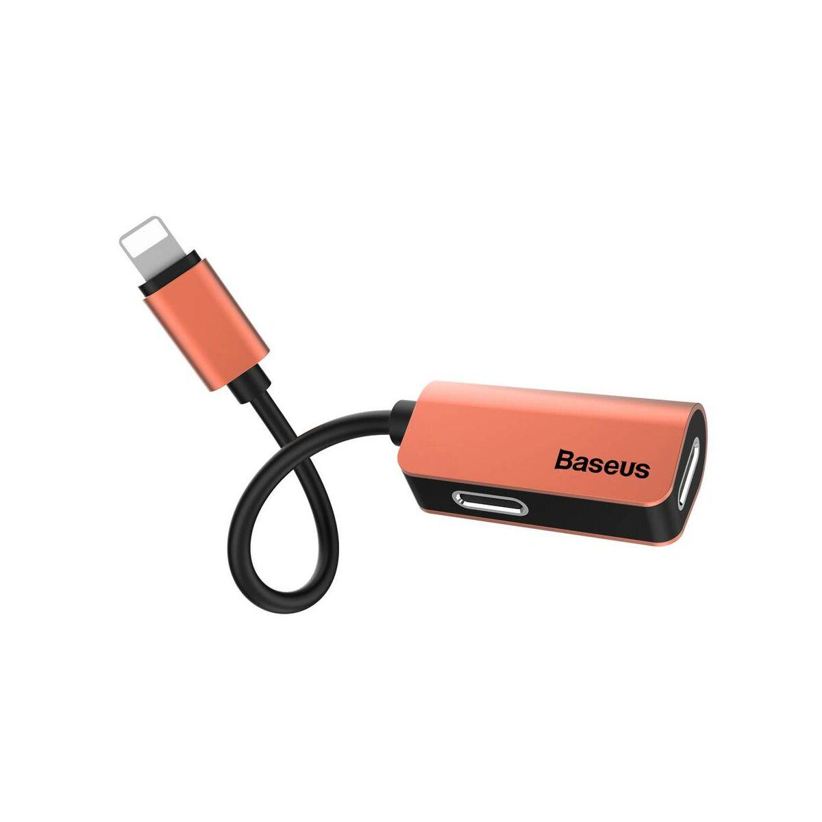 Baseus átalakító, L37 Lightning[apa] - Lightning + Lightning[anya] adapter, arany (CALL37-17)