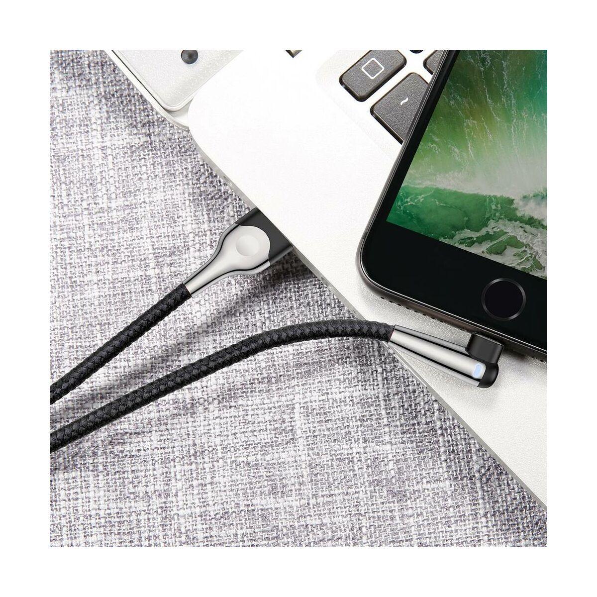 Baseus Lightning kábel, Sharp-bird Mobile Game, L-alakú csatlakozó, 1.5A, 2m, fekete (CALMVP-E01)