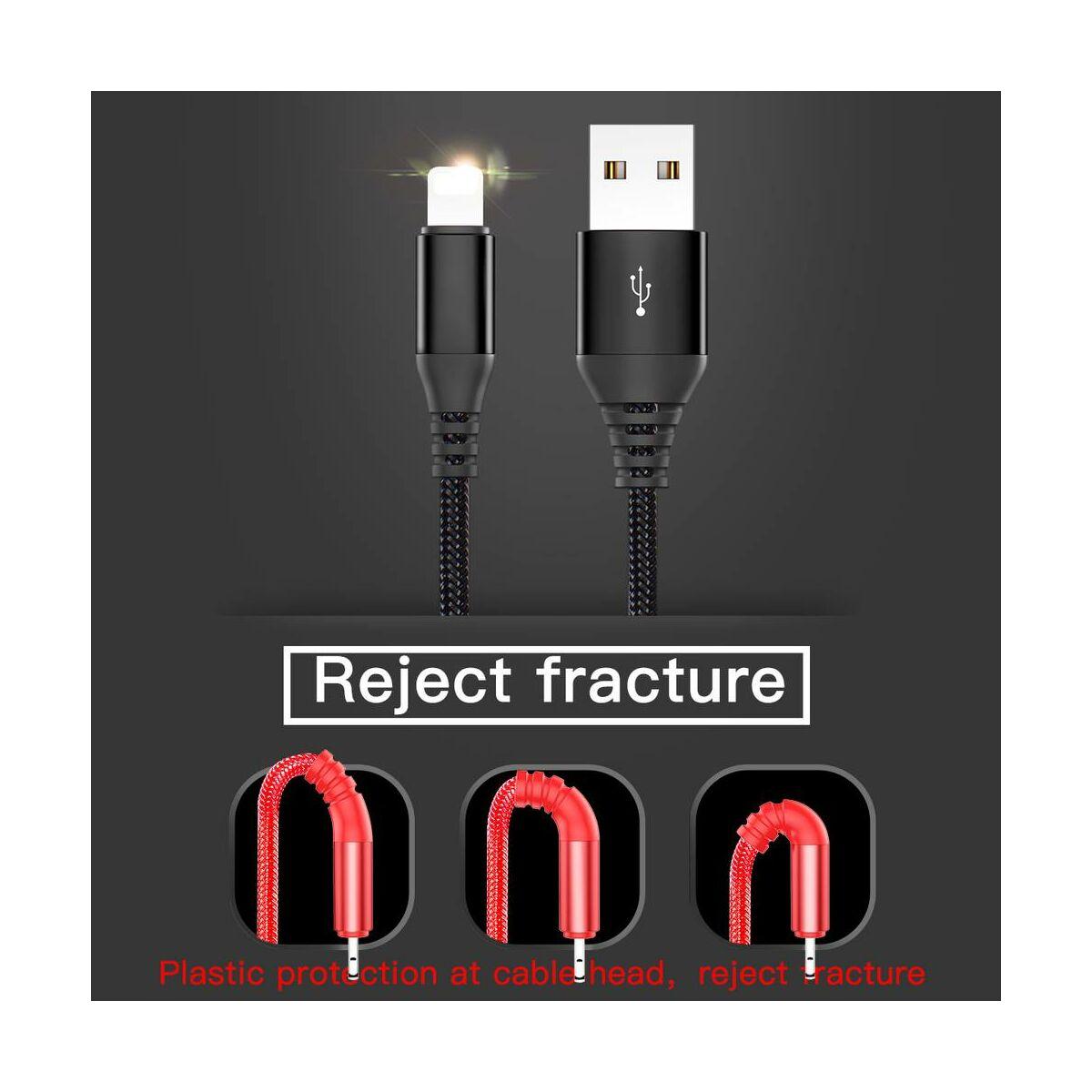 Baseus Lightning kábel, kihúzható, fekete (CALRX-01)