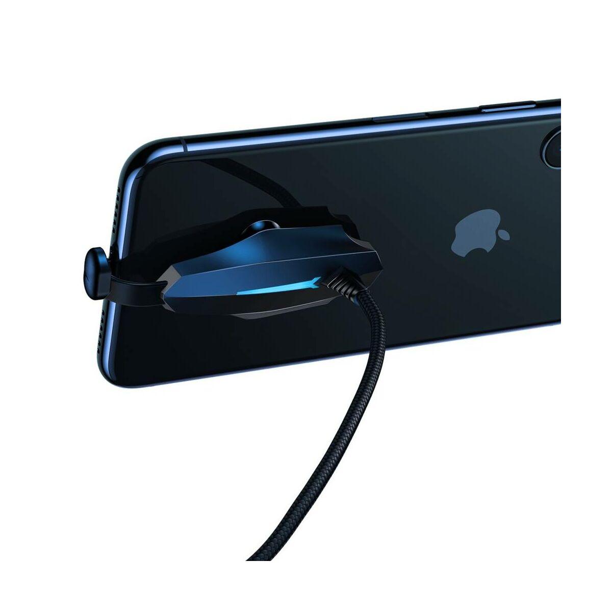 Baseus Lightning Colourful Suction Mobil Játék adatkábel, 2.4A, 1.2m, fekete (CALXA-A01)