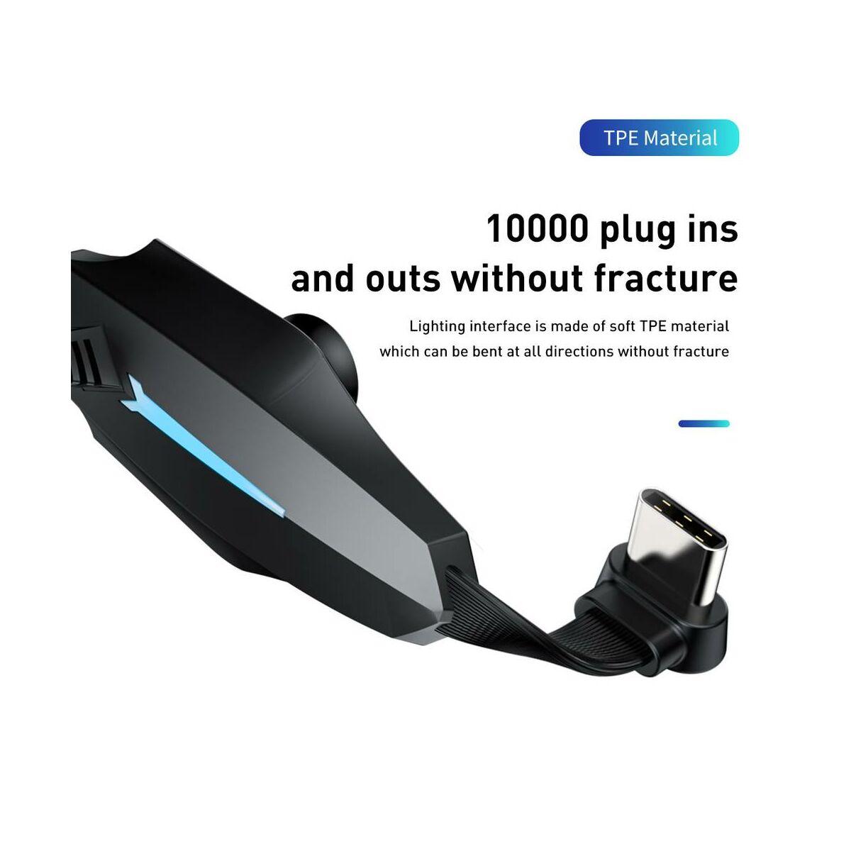 Baseus Lightning Colourful Suction Mobil Játék adatkábel, 1.5A, 2m, fekete (CALXA-B01)