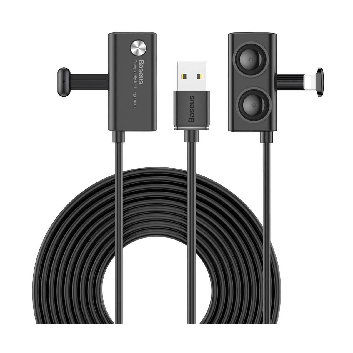Baseus Lightning kábel, Suction Cup Mobile Games, tapadókoronggal fixálható, mini csatlakozó, 1.5A, 3m, fekete (CALXP-E01)