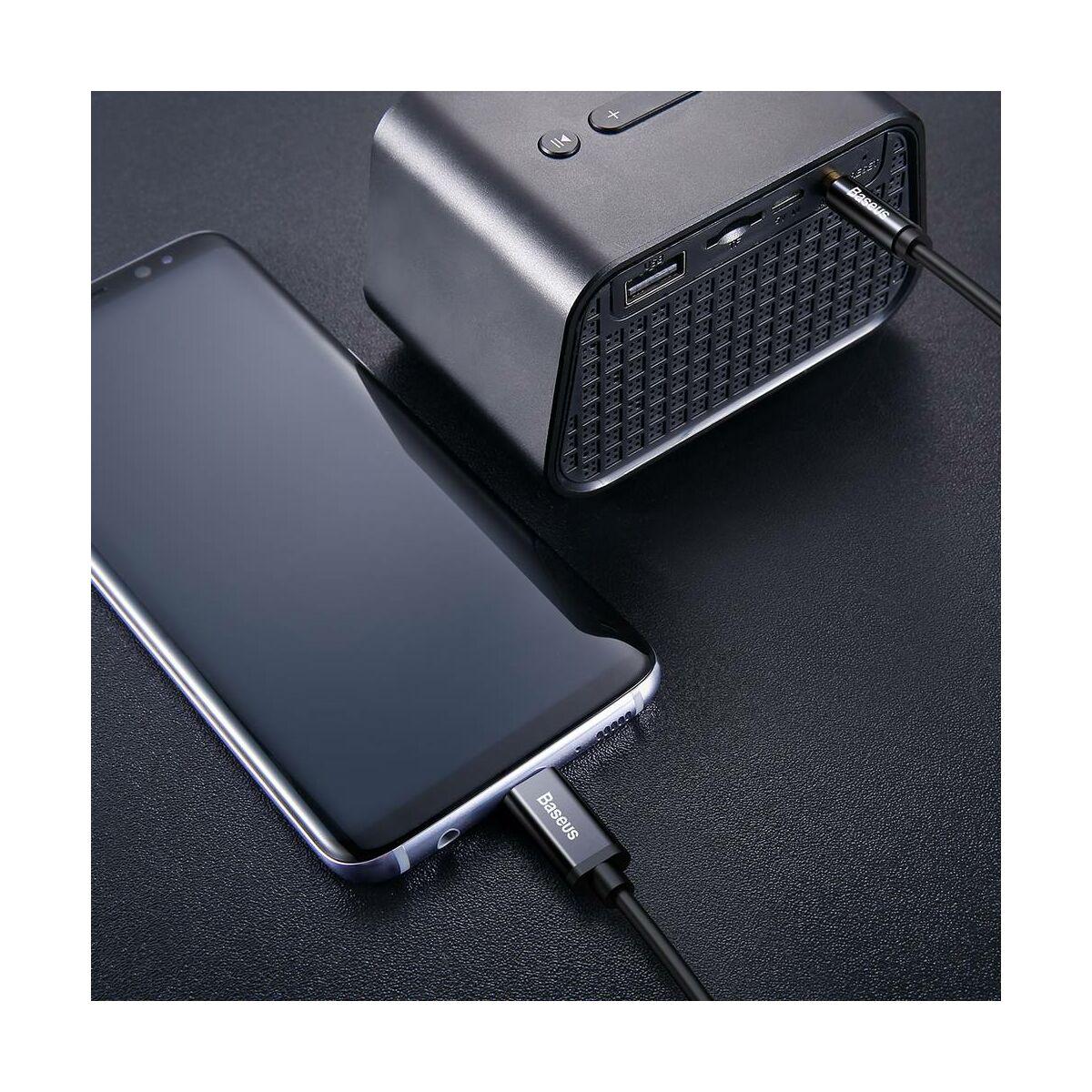 Baseus Audio kábel, Yiven M01, Type-C[apa] - 3.5[apa], fekete (CAM01-01)