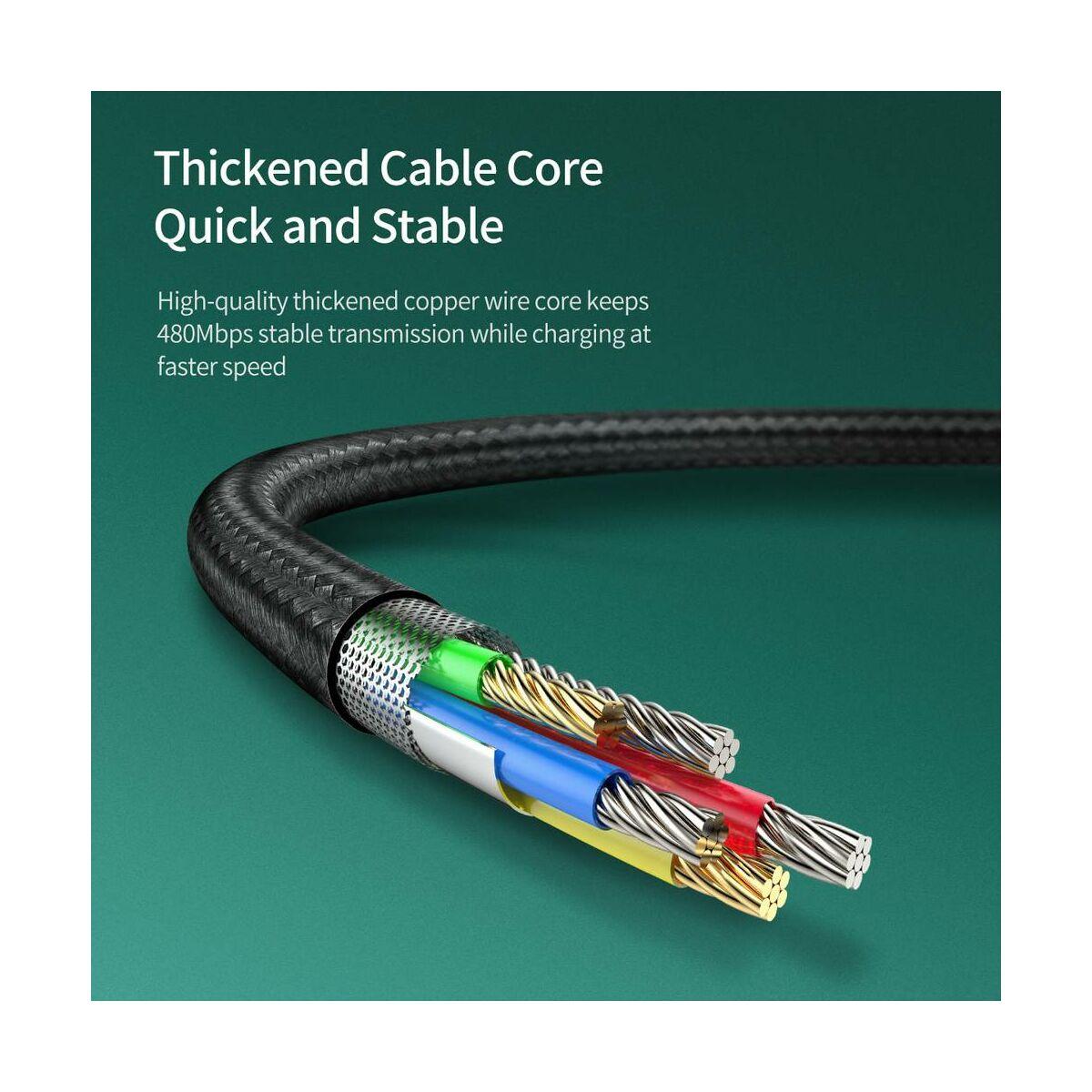Baseus Micro USB kábel, Waterdrop, 4A, 0.5m, fekete (CAMRD-A01)