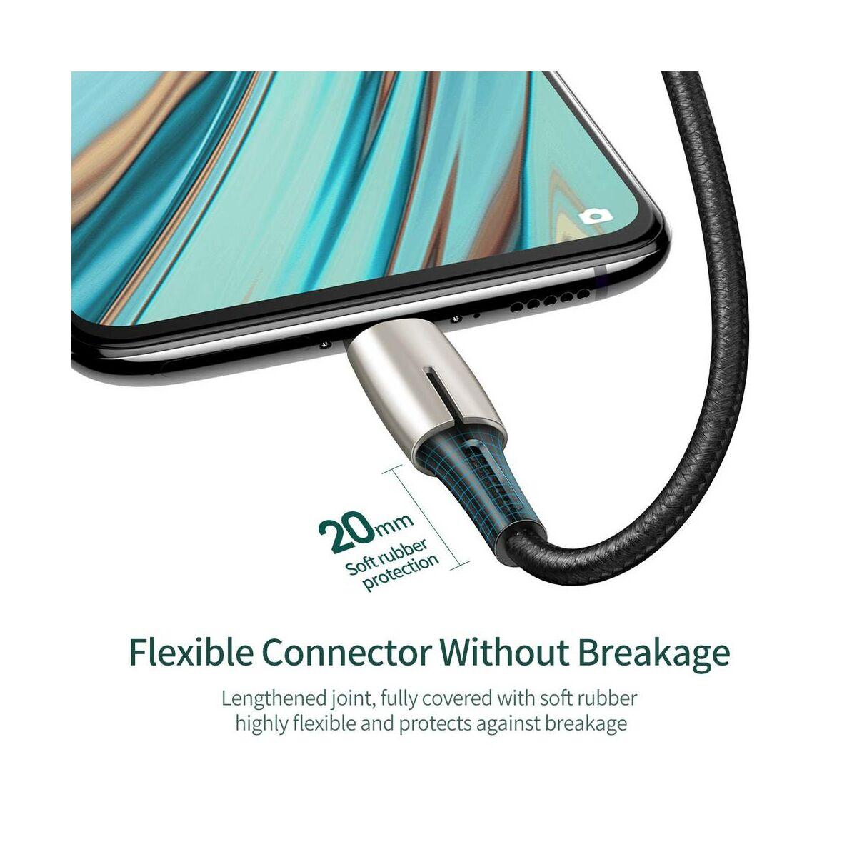 Baseus Micro USB kábel, Waterdrop, 4A, 1m, fekete (CAMRD-B01)