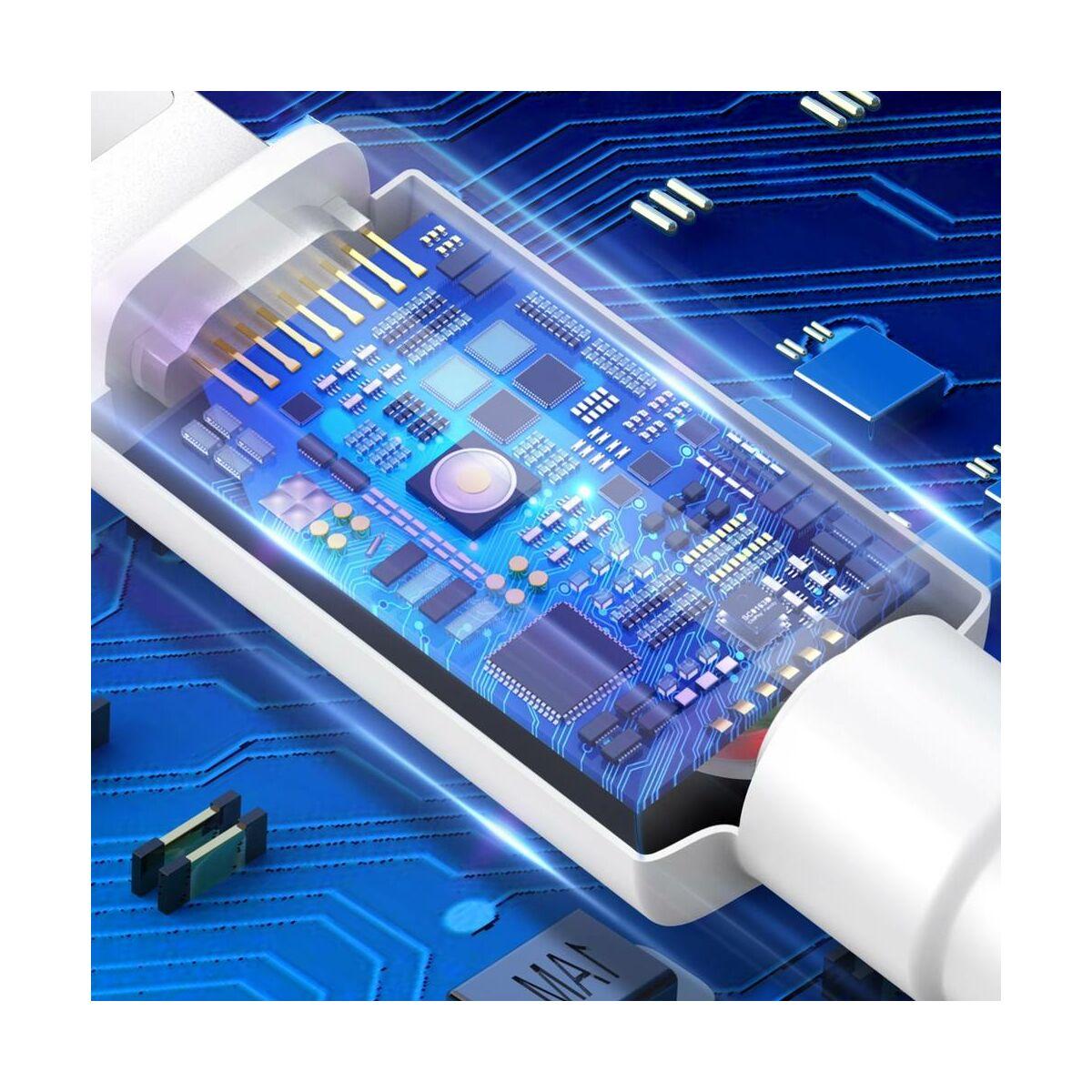Baseus Micro USB kábel, Mini 2.4A, 1m, fehér (CAMSW-02)