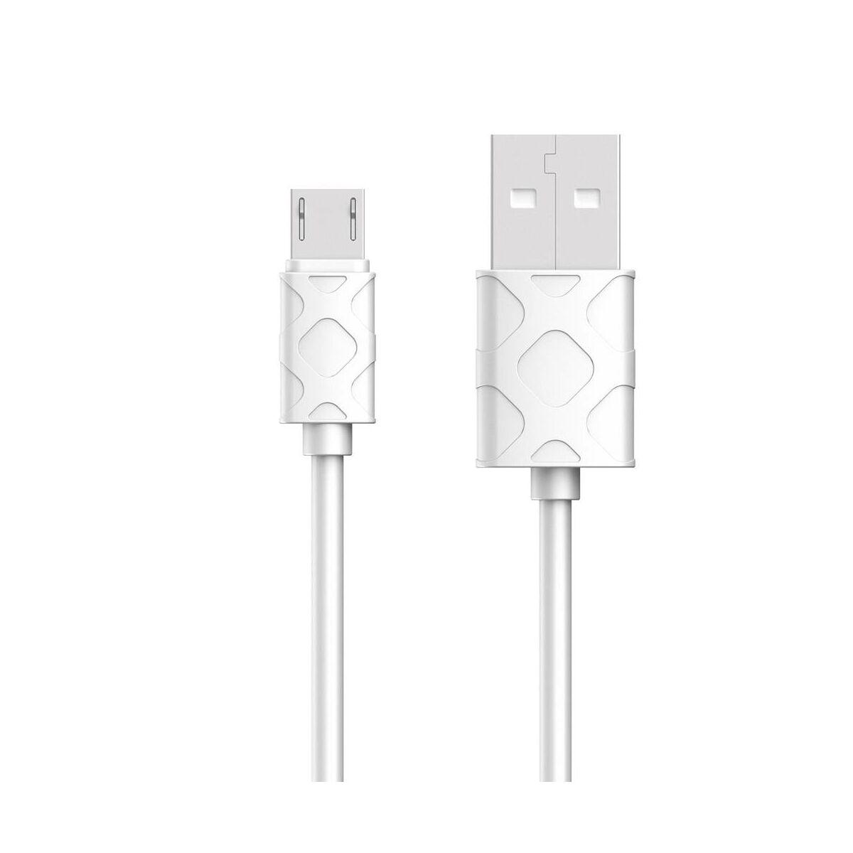 Baseus Micro USB kábel, Yaven kábel, 2.1A, 1m, fehér (CAMUN-02)