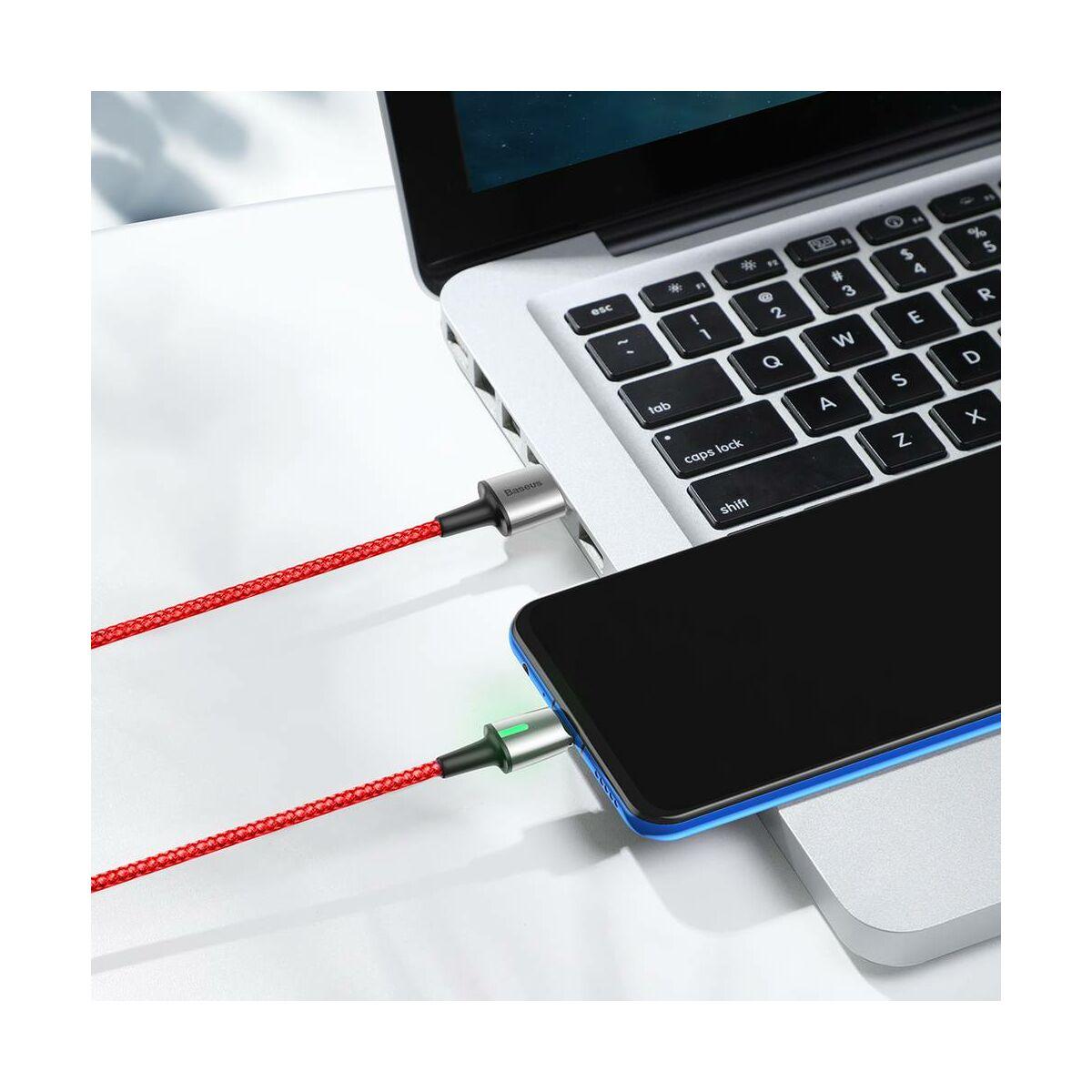 Baseus Mágneses kábel, Micro USB, Mágnessel csatlakozó töltő kábel, 1.5A 2m, piros (CAMXC-B09)