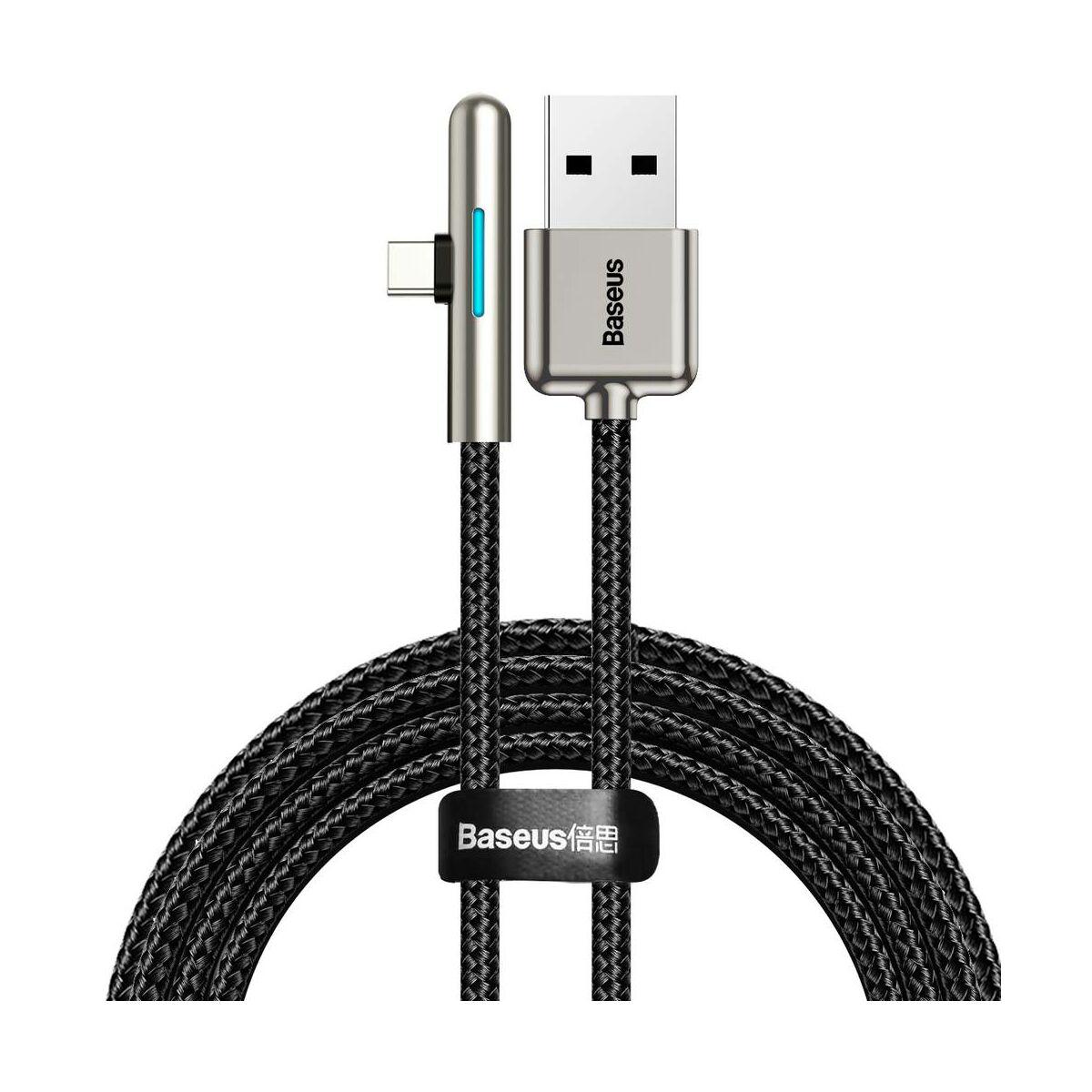Baseus Type-C kábel, Iridescent Lamp HW töltő kábel mobilos játékhoz 40W, 1m, fekete (CAT7C-B01)