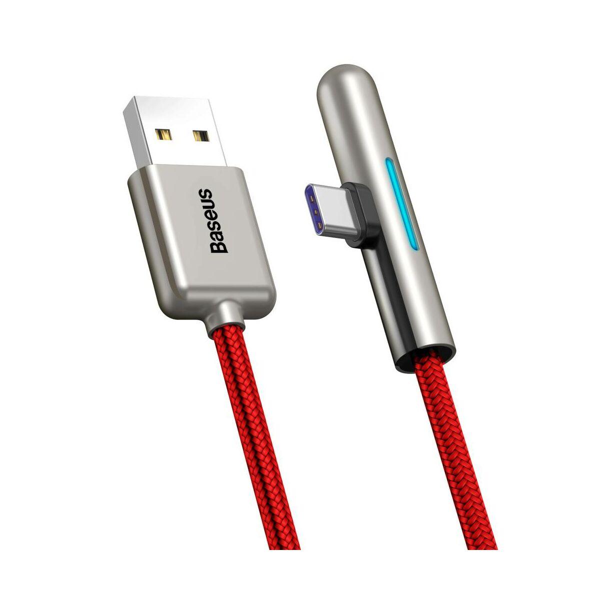 Baseus Type-C kábel, Iridescent Lamp HW töltő kábel mobilos játékhoz 40W, 1m, piros (CAT7C-B09)